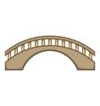 Round bridge icon cartoon style vector image vector image