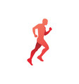run jogging running man logo icon vector image