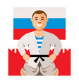 russian man humor concept flat style vector image