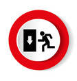 safe condition sign emergency exit black icon on vector image