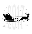 Santa Claus in a sleigh vector image vector image