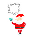 santa claus with gift box copy space for a vector image