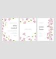 set beautiful wedding party invitation vector image vector image