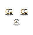set of initial letter cg logo template design vector image vector image
