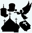 Set of religious symbols vector image vector image