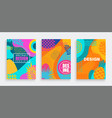 set summer cards with tropical leavesanimal print vector image vector image
