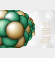 Sphere in the form balls vector image