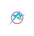 star circle abstract logo vector image vector image