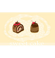 sweet cakes card vector image