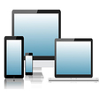 Tablet laptop phone monitor2 vector image