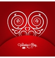 Valentines Day Vintage Card Ornament Background vector image vector image