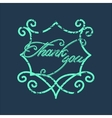 Vintage Thank You and graceful floral monogram