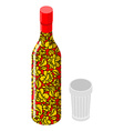 Vodka and glass Traditional Russian alcohol Bottle vector image vector image