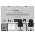 web banner of modern office workplace workspace vector image vector image
