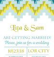 Wedding Vintage Invitation vector image vector image