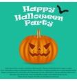 Wicked pumpkin for Halloween Jack Lantern vector image vector image