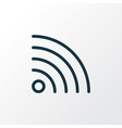 wifi icon line symbol premium quality isolated vector image