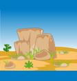 wild deserted terrain vector image vector image