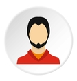 Young man with beard avatar icon flat style vector image vector image