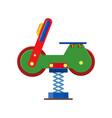 amusement park facilities theme elements vector image