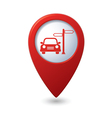 direct car RED pointer vector image