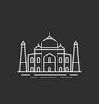 famous indian landmark vector image