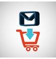 e-commerce store email envelope digital vector image