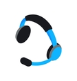 Headset icon isometric 3d style vector image