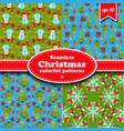 merry christmas seamless pattern set vector image