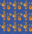 guitars pattern in dark blue background vector image