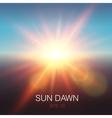 Realistic Sun Dawn Beams vector image