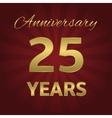 25 years anniversary vector image vector image