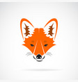 a fox face design on a white background wild vector image vector image