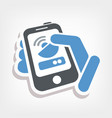 antenna smartphone or tablet icon vector image