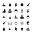 armed services icons pack vector image