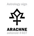 astrology asteroid arachne vector image vector image