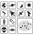 astronomy icon vector image vector image