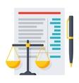 Balance Sheet Icon vector image