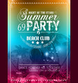 Beach Party Flyer for your latin music event vector image vector image