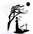 black gothic dame vector image