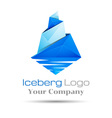 blue iceberg Brand sign Colorful 3d Volume Logo vector image vector image