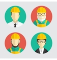 Building trades Avatar builder engineer Flat vector image