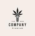 caduceus cannabis medical pharmacy hipster vector image vector image