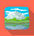 canadian waterfall canada single icon in flat vector image