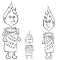 candle family vector image