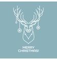 Christmas deer Line art vector image vector image