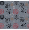 Christmas seamless pattern Colored snowflake vector image