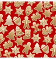 Christmas sweet pattern vector image vector image