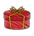color crayon stripe cartoon christmas rounded vector image