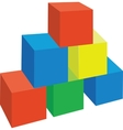 cubes color 1 vector image vector image